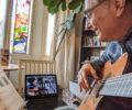Tijdens de lockdowns alle gitaarlessen zijn online